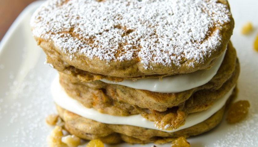 7 Grain Carrot Cake Pancakes