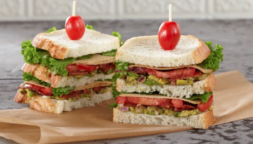 Vegan Bacon, Turkey, Lettuce & Tomato Club