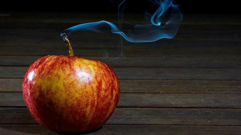 smoking apple